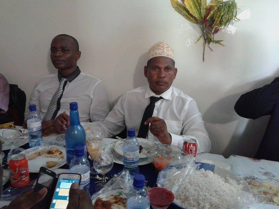 Le président de la SR de Mayotte au mariage d'un adhérent J-J DEMAREZ n'est pas loin
